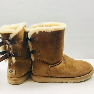 Ugg Bailey Bow II Chestnut Shearling Boots
